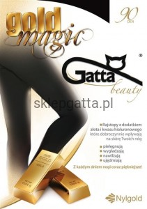 GOLD MAGIC - Rajstopy damskie 90 DEN